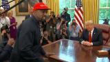 Katso parhaat palat Kanye Westin ja Donald Trumpin hämmentävästä kohtaamisesta