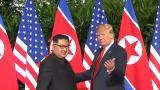 Kim Jong-un ja Donald Trump kohtasivat hotellin aulassa
